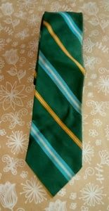 Forest Green Gold Striped Tie